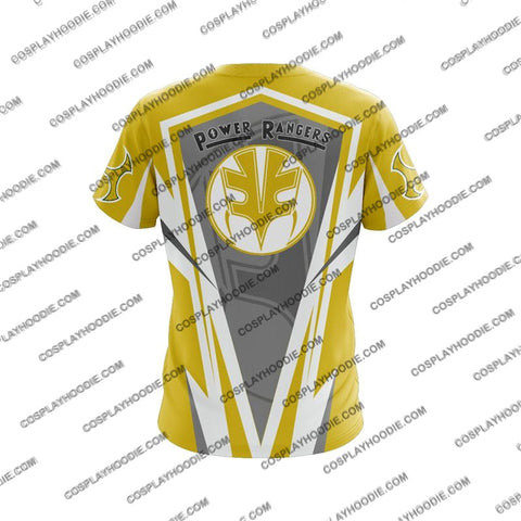 Mighty Morphin Power Rangers Yellow Cosplay T-Shirt