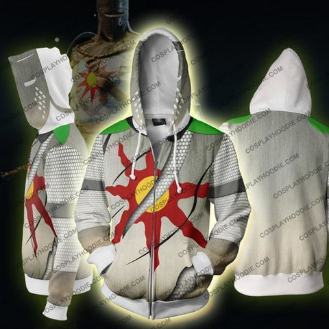 Dark Souls Ps3 Game Costume Zip Up Hoodie Jacket Cosplay