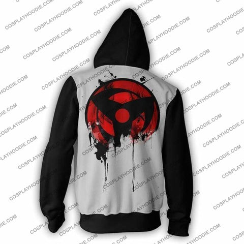 Image of Naruto Kakashi Sharingan Zip Up Hoodie Jacket Cosplay
