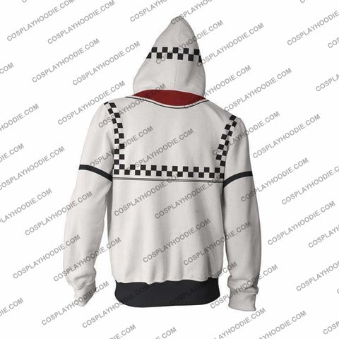 Kingdom Hearts Roxsa Zip Up Hoodie Jacket Cosplay