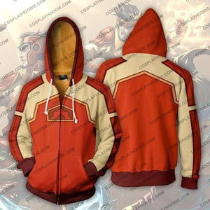 Avatar The Last Airbender Fire Ferret Zip Up Hoodie Jacket Cosplay