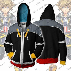 Kingdom Hearts Hoodie - 2 Sora Black Jacket Cosplay
