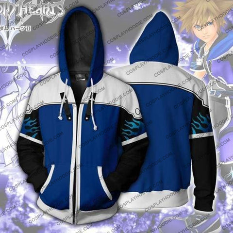 Kingdom Hearts Hoodies - Sora Wisdom Form Zip Up Hoodie Jacket Cosplay