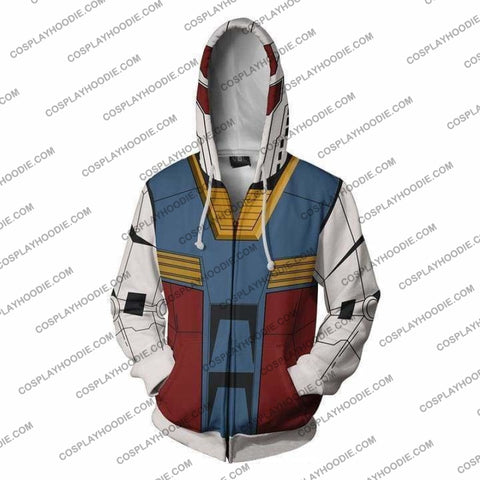Image of Mobile Suit Gundam Hoodie - R78 Jacket Cosplay