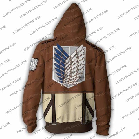 Attack On Titan Hoodie - Eren Yeager Jacket Cosplay