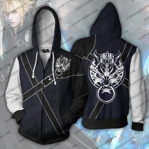 Final Fantasy Hoodies - Cloud Strife Zip Up Hoodie Jacket Cosplay