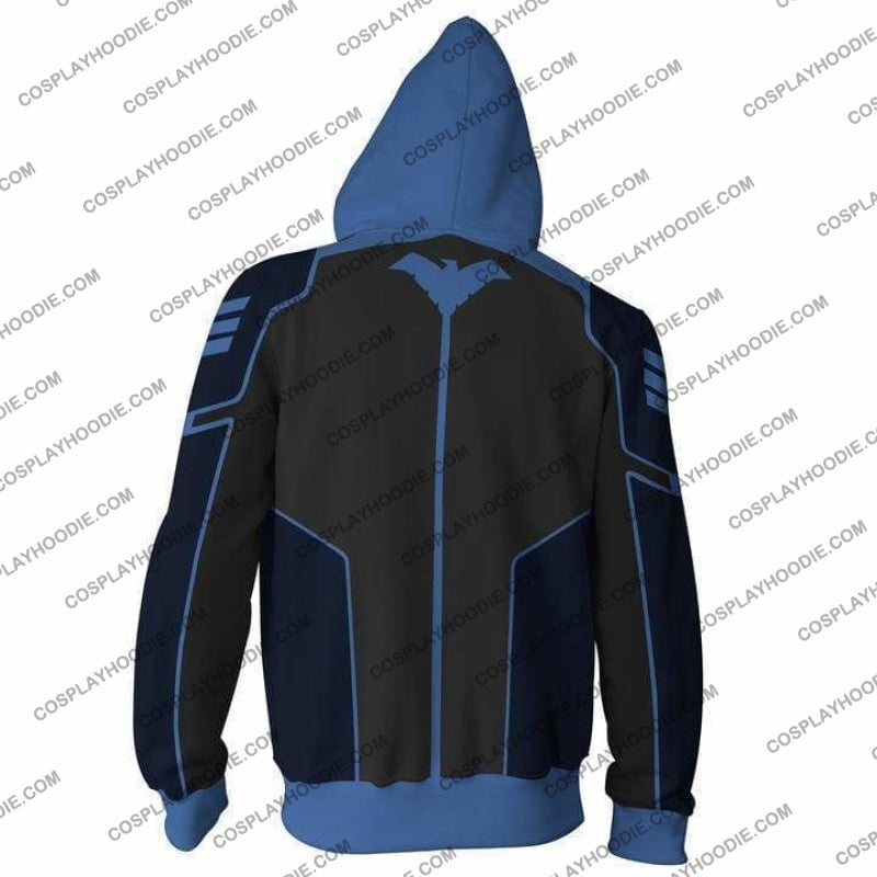 Nightwing Hoodie - Blue Jacket Cosplay