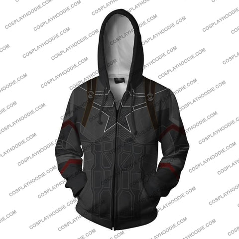 Image of Avengers Infinity War Hoodie - Captain America Jacket Cosplay