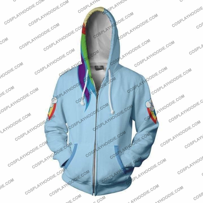 Rainbow Dash Hoodie Jacket Cosplay