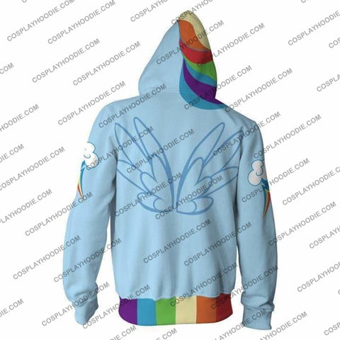 Image of Rainbow Dash Hoodie Jacket Cosplay