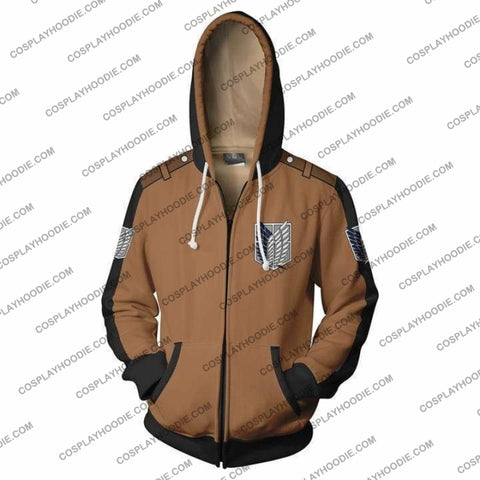Image of Attack On Titan Hoodie - On Jacket Cosplay