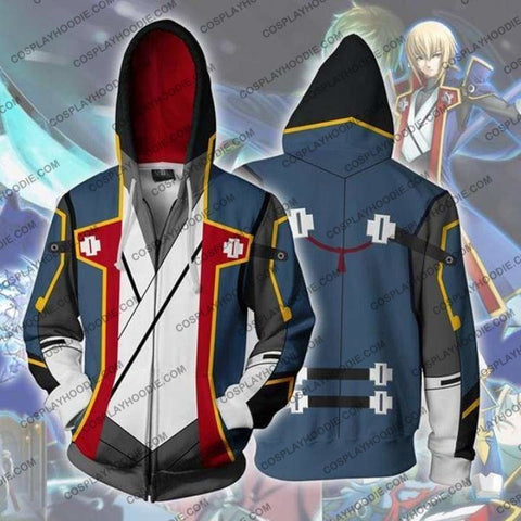 Blazblue Hoodies - Jin Kisaragi Zip Up Hoodie Jacket Cosplay