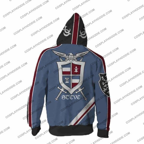 Tekken Hoodies - 7 Steve Fox Zip Up Hoodie Jacket Cosplay