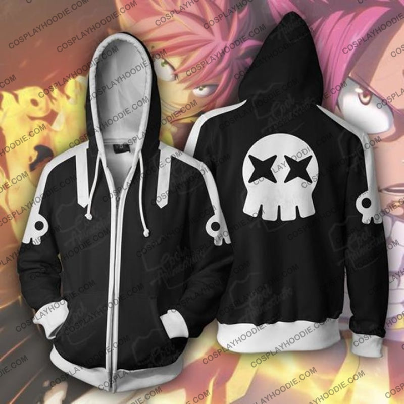 Fairy Tail Hoodies - Natsu Dragnel Zip Up Hoodie Jacket Cosplay