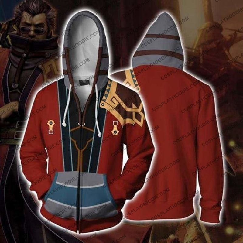 Final Fantasy X Hoodies - Auron Zip Up Hoodie Jacket Cosplay
