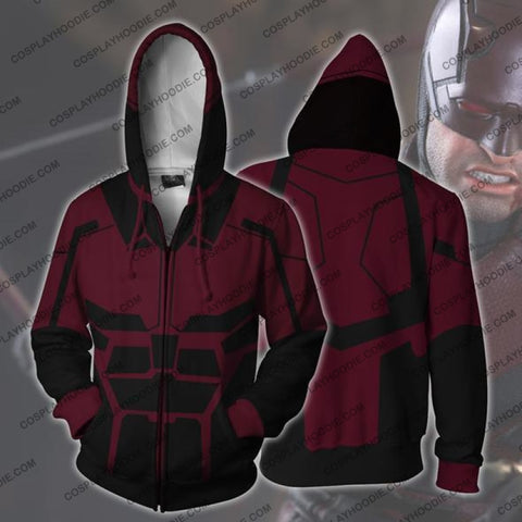 Image of Daredevil Hoodie Jacket Cosplay