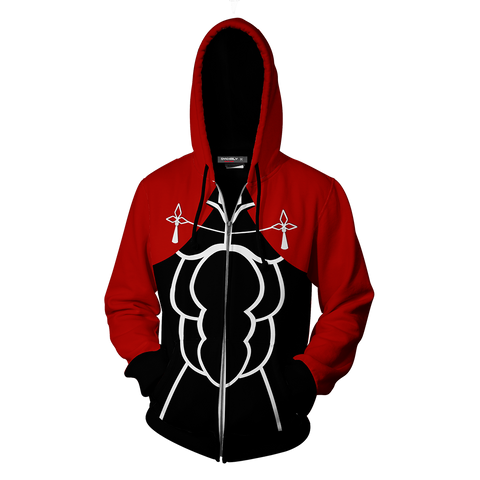 Image of Fate Stay Night Archer Hoodie Cosplay Jacket Zip Up