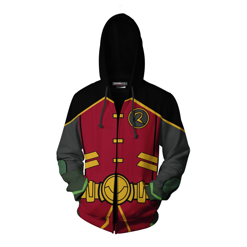 Batman Robin Hoodie Cosplay Jacket Zip Up