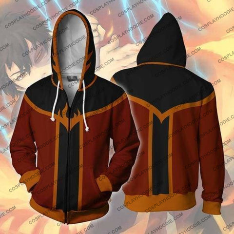 Avatar The Last Airbender Zuko Zip Up Hoodie Jacket Cosplay