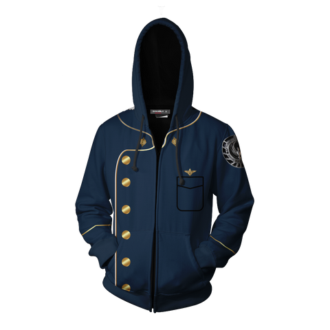 Image of Battlestar Galactica Hoodie Cosplay Jacket Zip Up