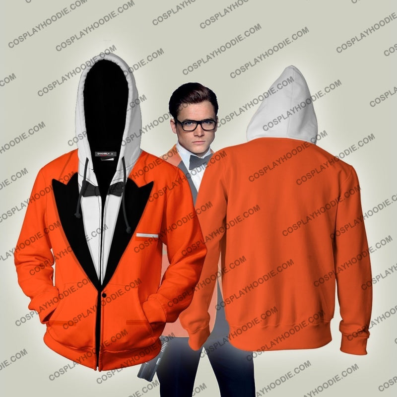 Kingsman The Golden Circle Eggsy Unwin (Vest) Hoodie Cosplay Jacket Zip Up