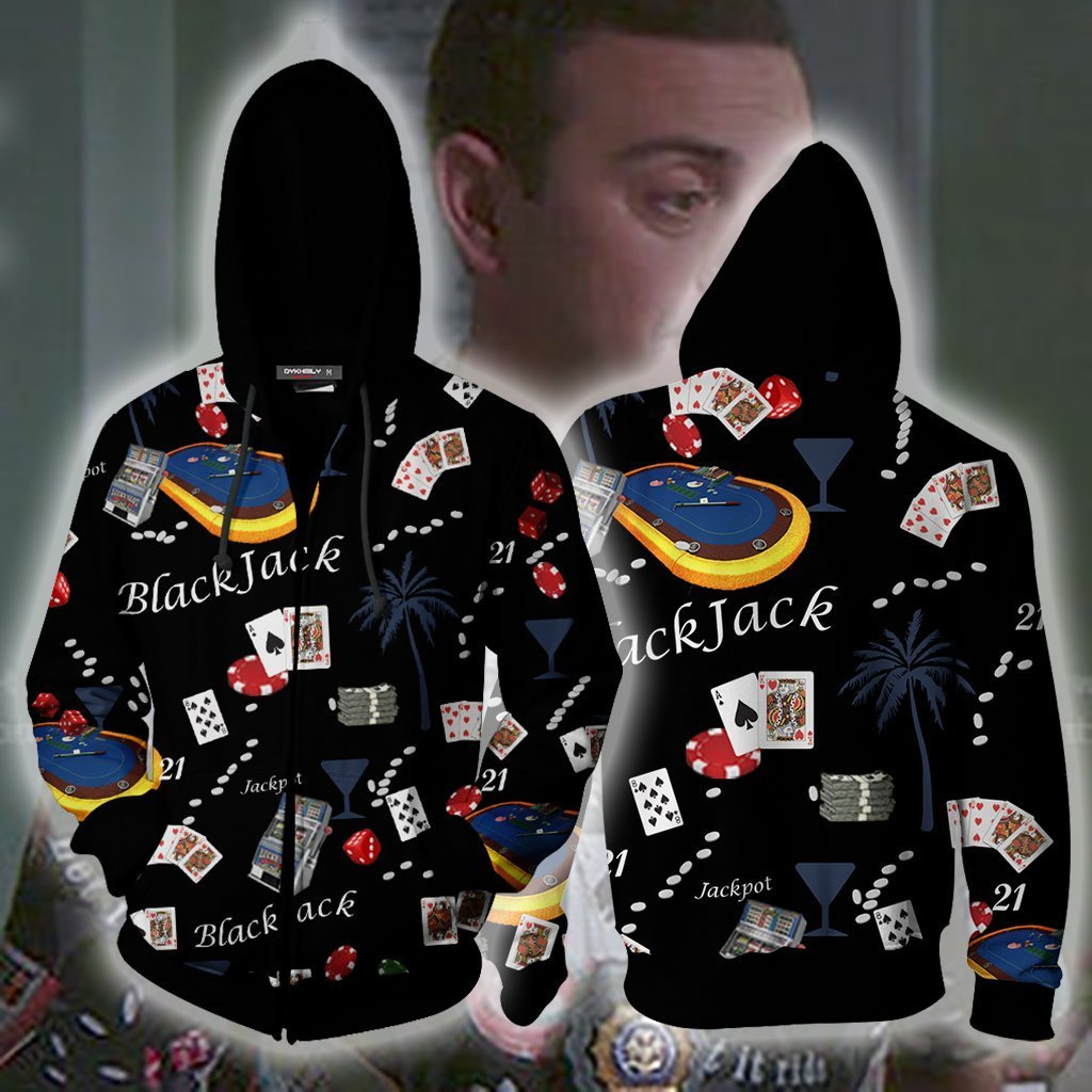 Brooklyn 99 Boyles Blackjack Shirt Hoodie Cosplay Jacket Zip Up
