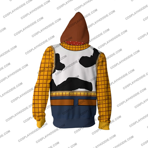 Image of Toy Story Sheriff Woody Hoodie Cosplay Jacket Zip Up