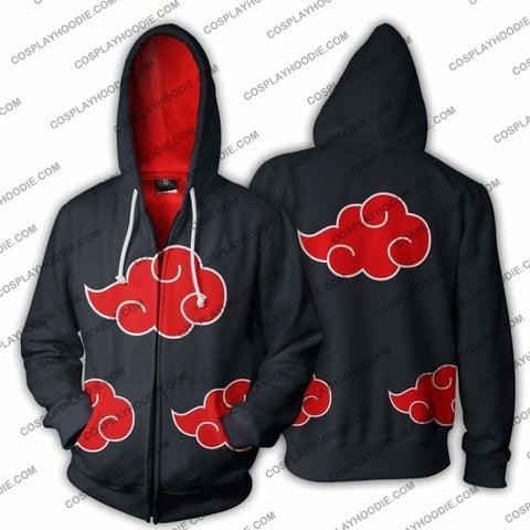 Image of Naruto Akatsuki Zip Up Hoodie Jacket Cosplay
