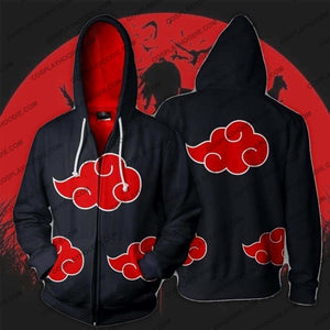 Naruto Akatsuki Zip Up Hoodie Jacket Cosplay
