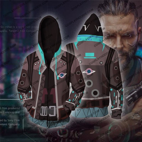Cyberpunk 2077 V1 Cosplay Zip Up Hoodie Jacket