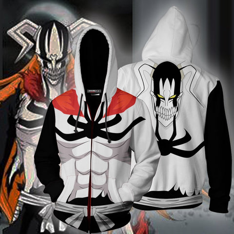 Image of Bleach Vasto Lorde Ichigo Hoodie Cosplay Jacket Zip Up