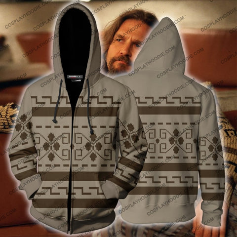 The Big Lebowski Dude Hoodie Cosplay Jacket Zip Up
