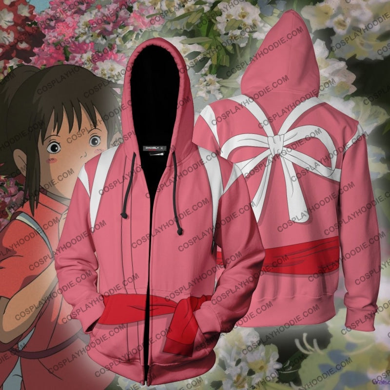 Spirited Away Chihiro Ogino (Sen) Hoodie Cosplay Jacket Zip Up