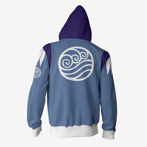 Avatar The Last Airbender - Katara Cosplay Hoodie Jacket