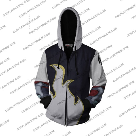 Tekken Jin Kazama White Flame Hoodie Cosplay Jacket Zip Up