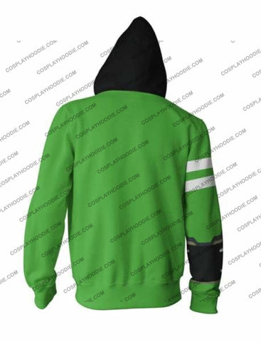Image of Ben 10 Green Costume Zip Up Hoodie Jacket Cosplay