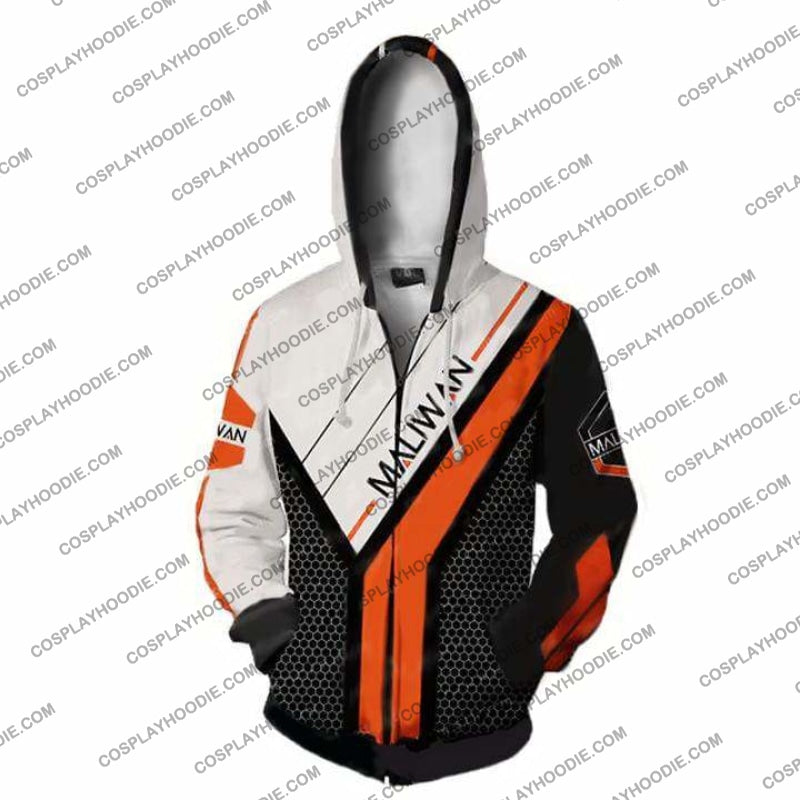 Borderlands Hoodies - Maliwan V2 Zip Up Hoodie Jacket Cosplay
