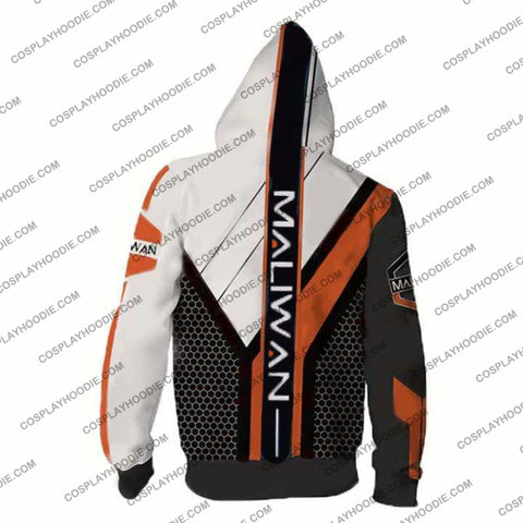 Image of Borderlands Hoodies - Maliwan V2 Zip Up Hoodie Jacket Cosplay