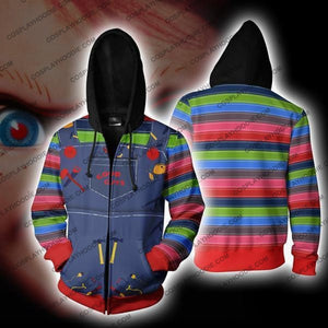 Chucky Childs Play Zip Up Hoodie Jacket Cosplay