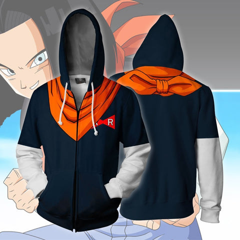 Image of Dragon Baal Z - Android 17 Cosplay Hoodie Jacket