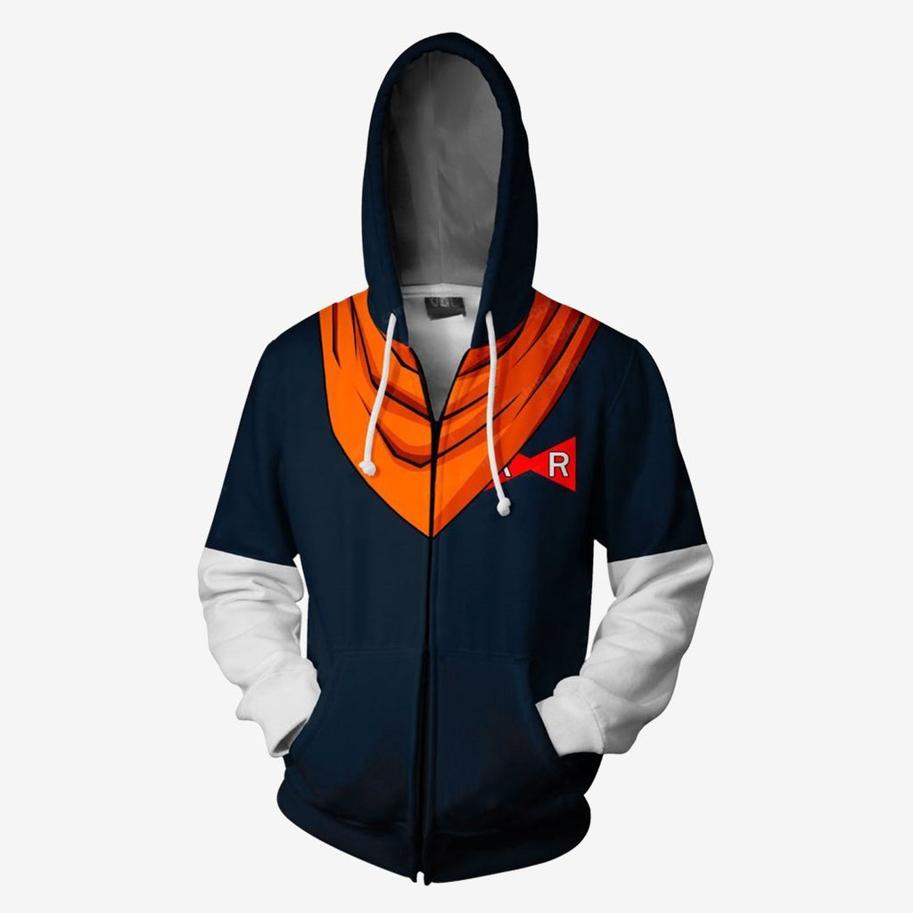 Dragon Baal Z - Android 17 Cosplay Hoodie Jacket