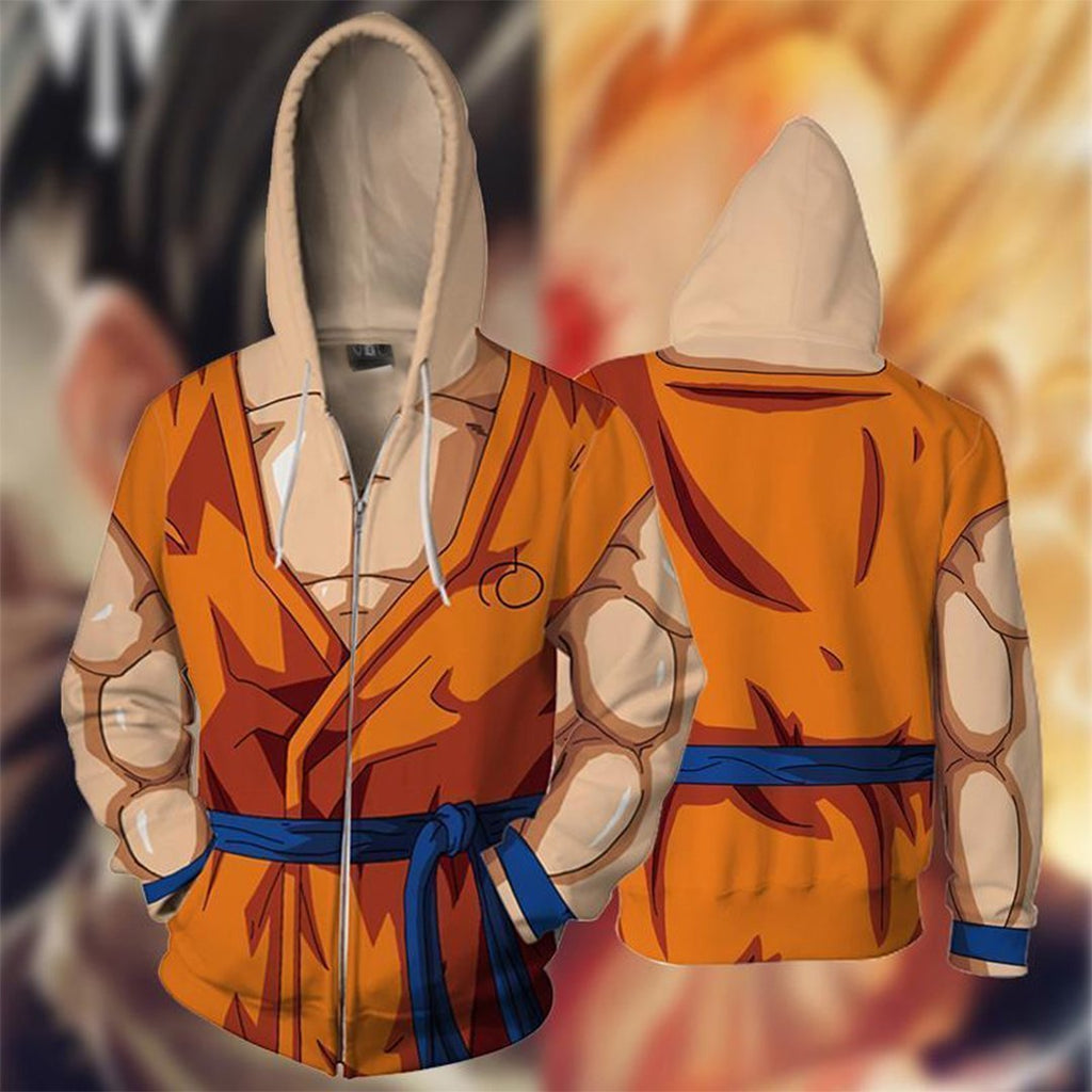 Dragon Ball Z - Goku Battle Cosplay Hoodie Jacket