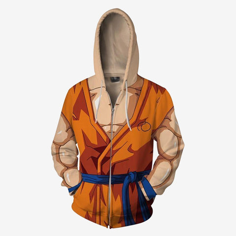 Image of Dragon Ball Z - Goku Battle Cosplay Hoodie Jacket