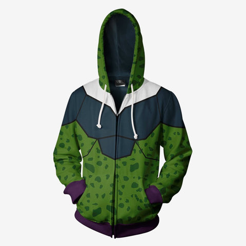 Image of Dragon Ball Z - Super Perfect Cell Cosplay Hoodie Jacket
