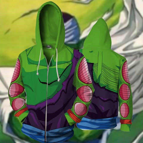 Image of Dragon Ball Z - Piccolo Battle Cosplay Hoodie Jacket