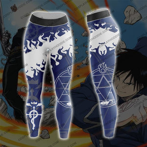 Fullmetal Alchemist Roy Mustang White Fire Cosplay Leggings