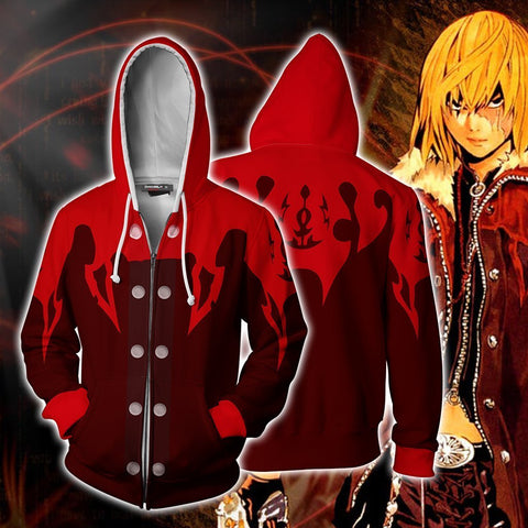 Death Note Mello (Mihael Keehl) Hoodie Cosplay Jacket Zip Up