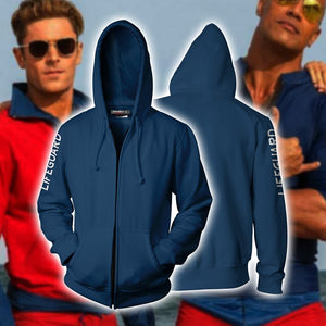 Baywatch Blue Hoodie Cosplay Jacket Zip Up / Us Xs (Asian S)