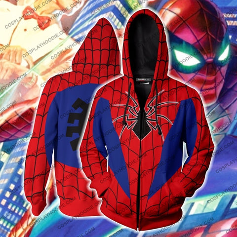 Image of Spider-Armor Mk Iv Cosplay Ps4 Zip Up Hoodie Jacket