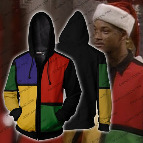 Image of The Fresh Prince Of Bel-Air Deck Halls Will Smith Hoodie Cosplay Jacket Zip Up